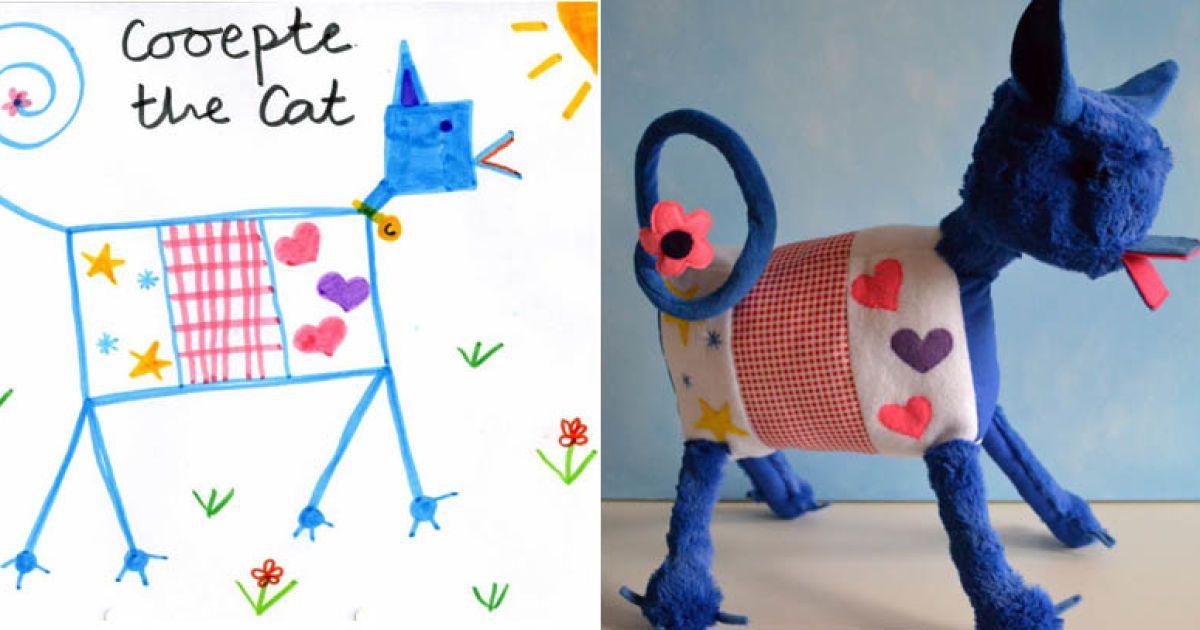 Игрушки по детским рисунками