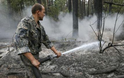 Чрезвычайники потушили масштабный лесной пожар, едким дымом от которого затянуло весь Киев
