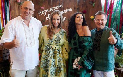 Именинница Екатерина Осадчая расплакалась от поздравления Потапа и Насти Каменских