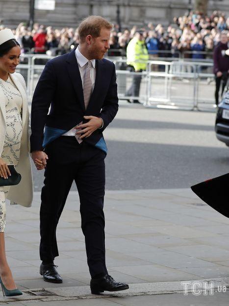 Герцогиня Меган во время первой беременности сыном Арчи / © Associated Press