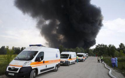 В Минздраве сообщили количество жертв и пострадавших от пожара под Васильковом