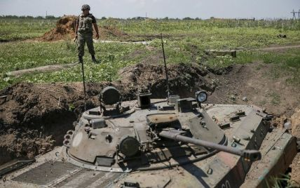 Очередной бой под Марьинкой и сбитый возле Волновахи вражеский беспилотник. Карта АТО