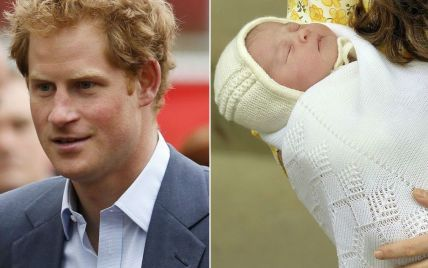 Принц Гарри встретился с принцессой Кембриджской Шарлоттой