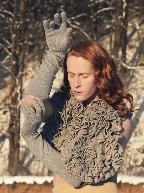 Данила Поляков в лукбуке новой коллекции Katia Mosina / © katiamossina.com