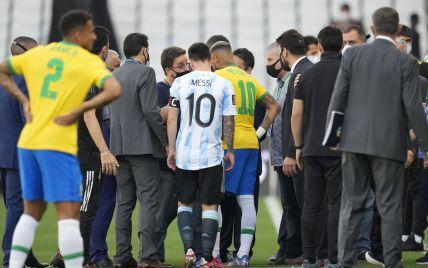 Гучний скандал у матчі збірних Бразилії і Аргентини: поліція спробувала заарештувати просто на полі гравців гостей (відео)