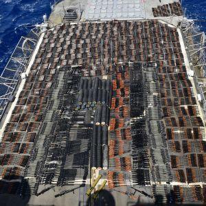 Крейсер США задержал в Аравийском море судно с новейшим российским и китайским вооружением