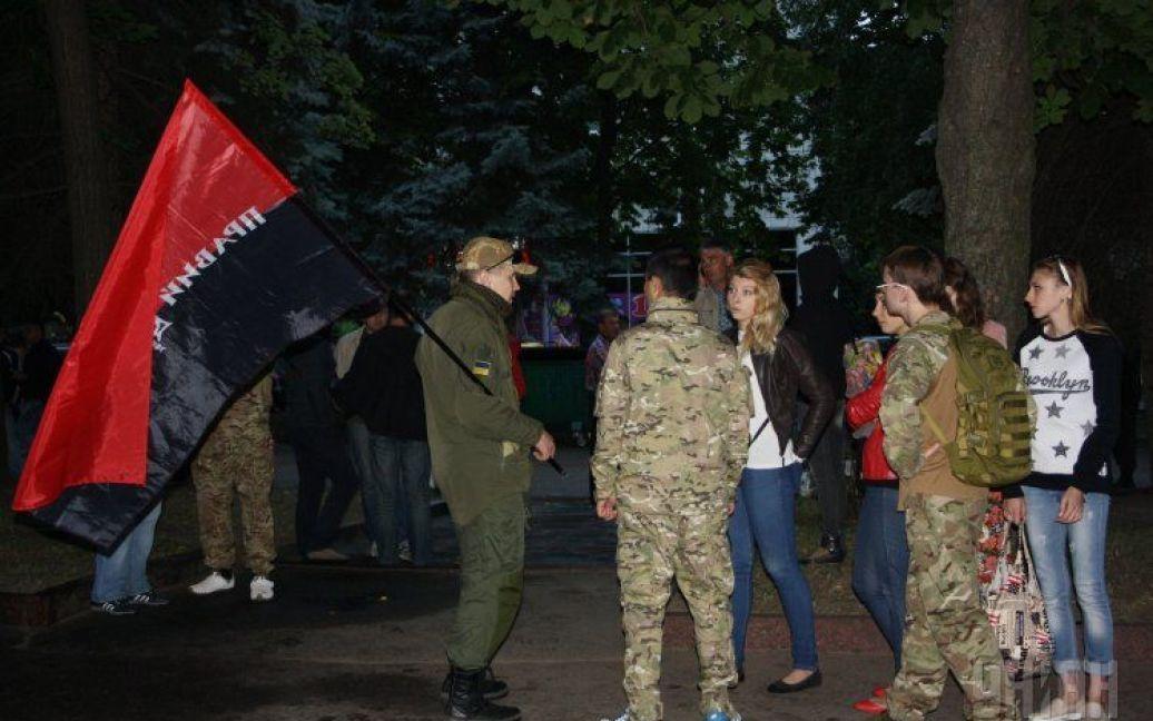 """Протест """"Правого сектора"""" в Житомире. / © УНИАН"""