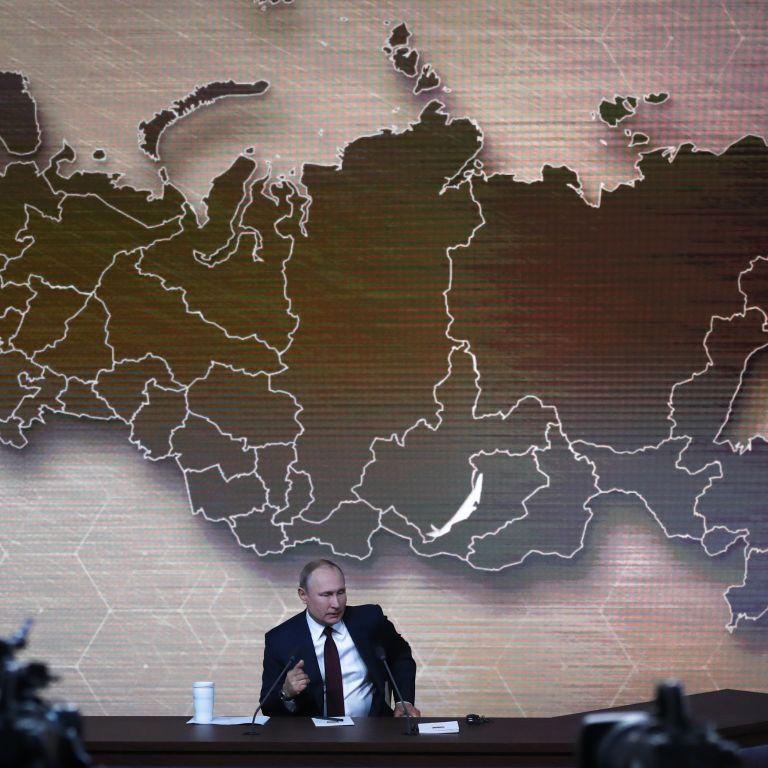 """Путін на пресконференції розповів про """"споконвічні російські території"""" та """"сільську Україну"""""""