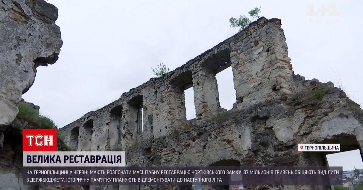 Новости Украины: в Тернопольской области начнут масштабную реставрацию Чертковского замка
