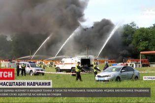 Новини України: у Сумській області відбулися масштабні навчання з надзвичайних ситуацій