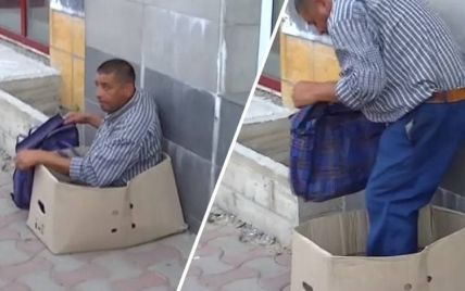 """У Чернівцях охоронці ринку """"зцілили"""" жебрака (відео)"""