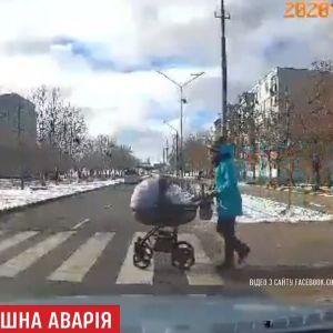 На Запоріжжі водія, який напідпитку збив візок із немовлям, взяли під варту