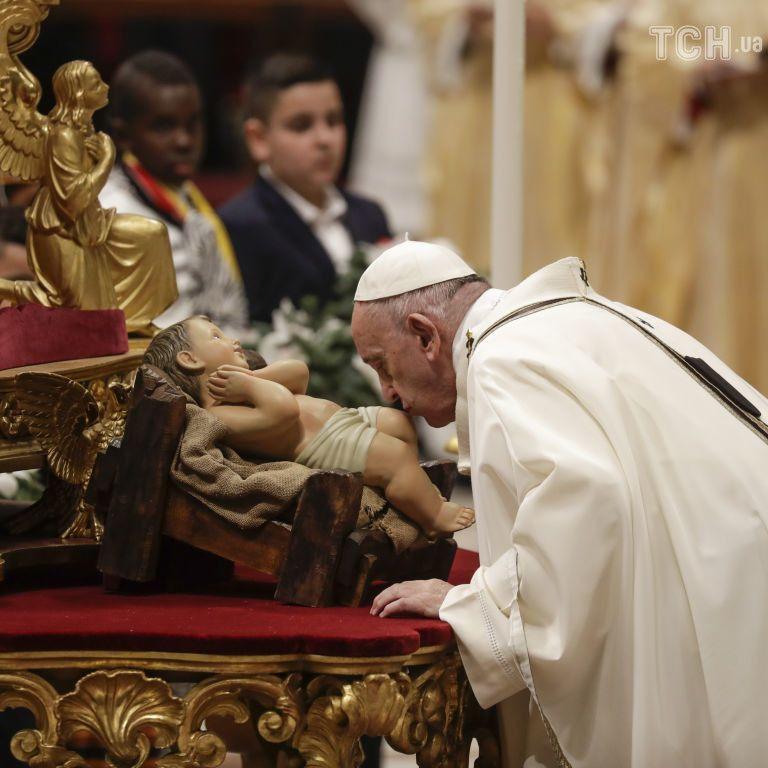 Папа Франциск відслужив різдвяну месу у Ватикані