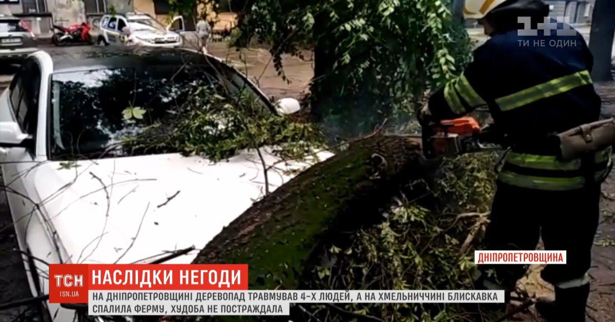 Регионы Украины страдают от сильного ветра, дождей и молнии