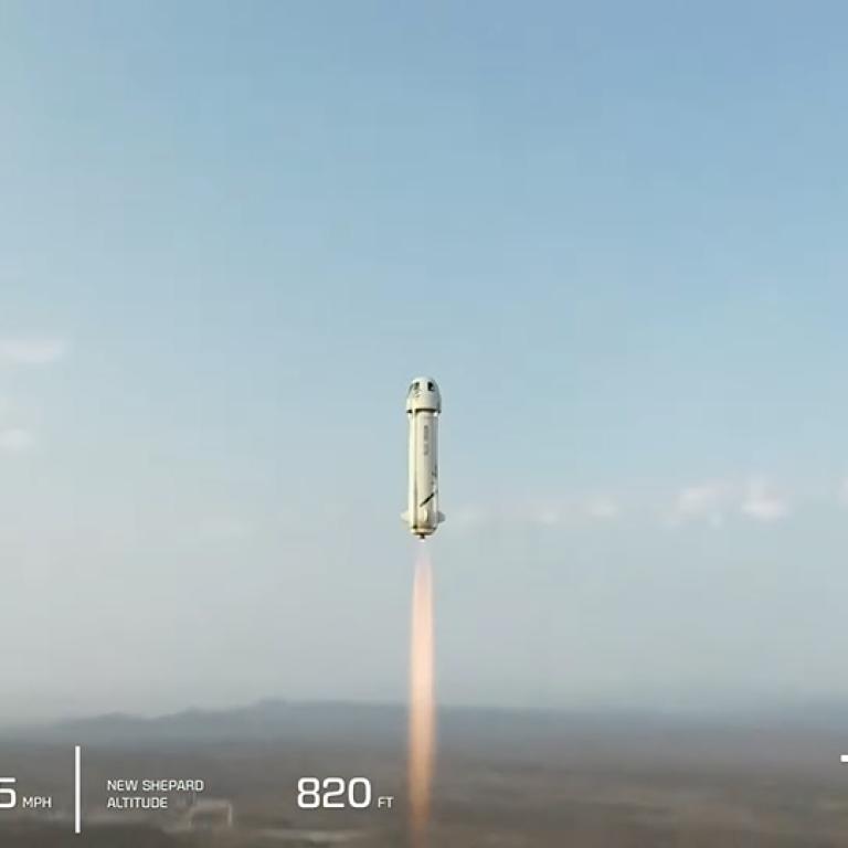 Исторический момент: ракета миллиардера Джеффа Безоса совершила полет в космос