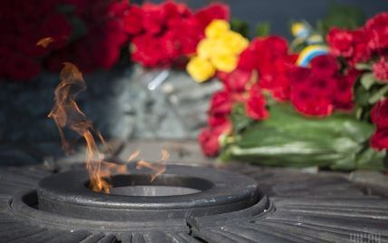 В Киеве вандалы украли детали Вечного огня