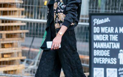В цветочном бомбере и кружевных брюках-капри: Оливия Палермо продемонстрировала стильный весенний образ