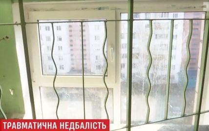 Оконная решетка раздробила череп годовалого ребенка в Киеве