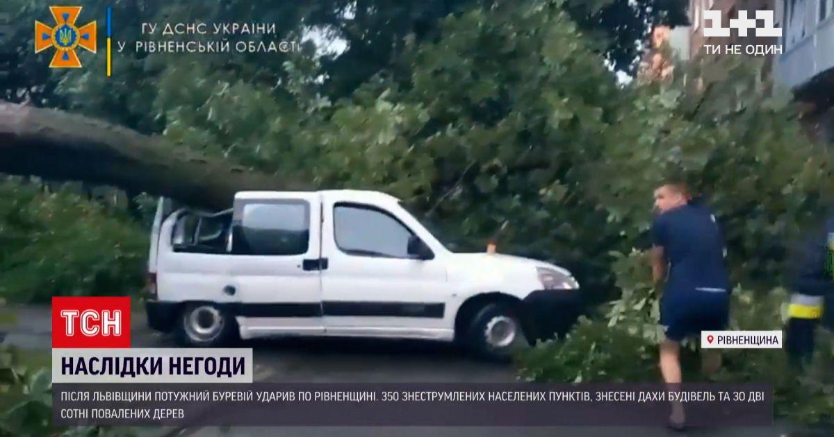 Новини України: у Рівненській області через негоду без світла лишилися майже 350 населених пунктів