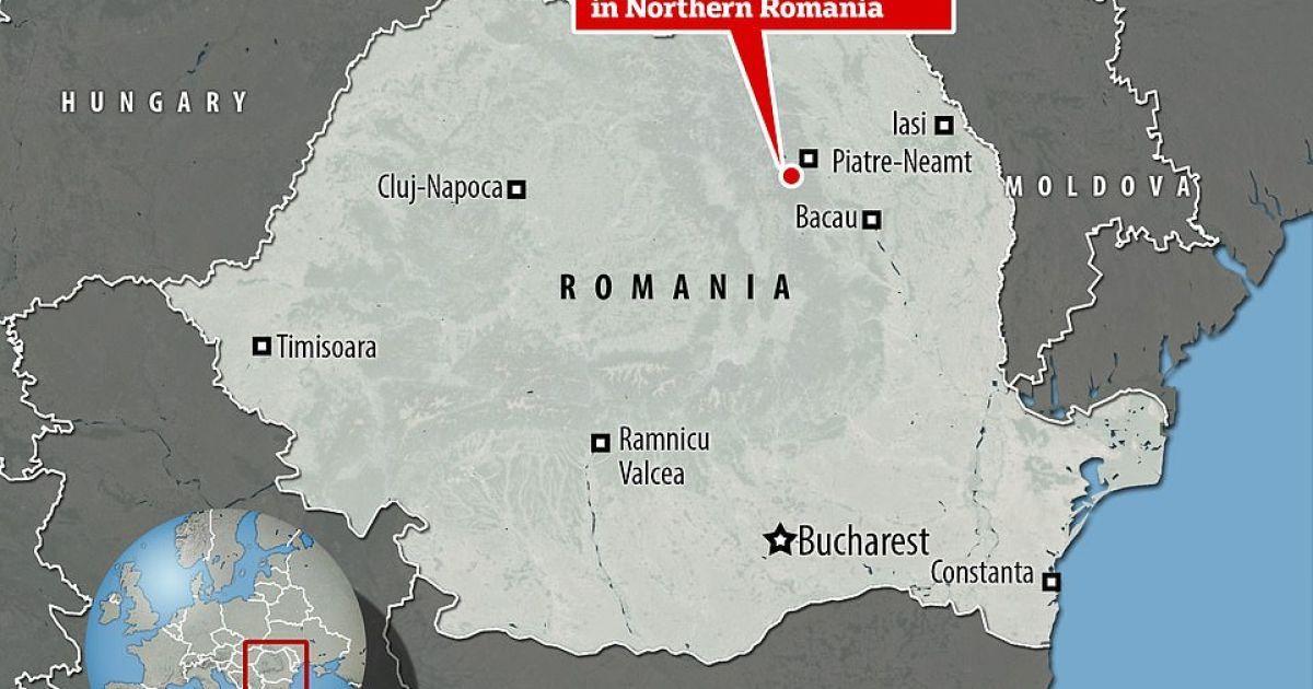 Місто П'ятра-Нямц на півночі Румунії, де виявили загадковий моноліт / © Daily Mail