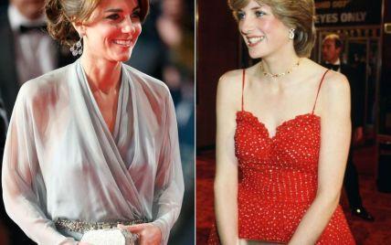 Битва нарядов: герцогиня Кэтрин vs принцесса Диана на премьерах фильмов о Джеймсе Бонде