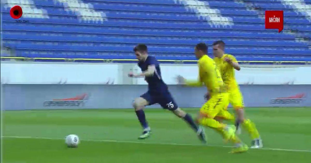 УПЛ | Чемпіонат України з футболу 2021 | Дніпро-1 - Рух - 1:0. Відео голу Маріо Чуже (60`)