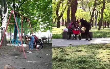 Дежавю, яке шокує: в Одесі молода мати під кайфом гуляє з дитиною (відео)