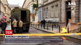 Новини України: на пішохідному тротуарі у Львові вирвалось полум'я
