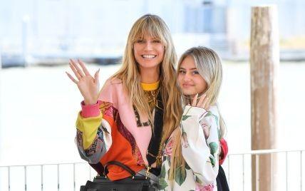 В нарядах Dolce & Gabbana: Хайди Клум прилетела с 17-летней дочерью в Венецию
