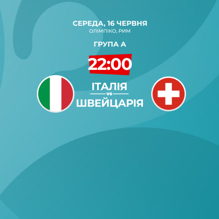 Италия — Швейцария - 3:0 Онлайн-трансляция матча Евро-2020