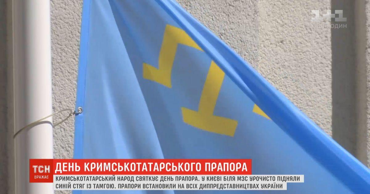 Голубой флаг с золотой тамгой: мир отмечает День крымскотатарского флага