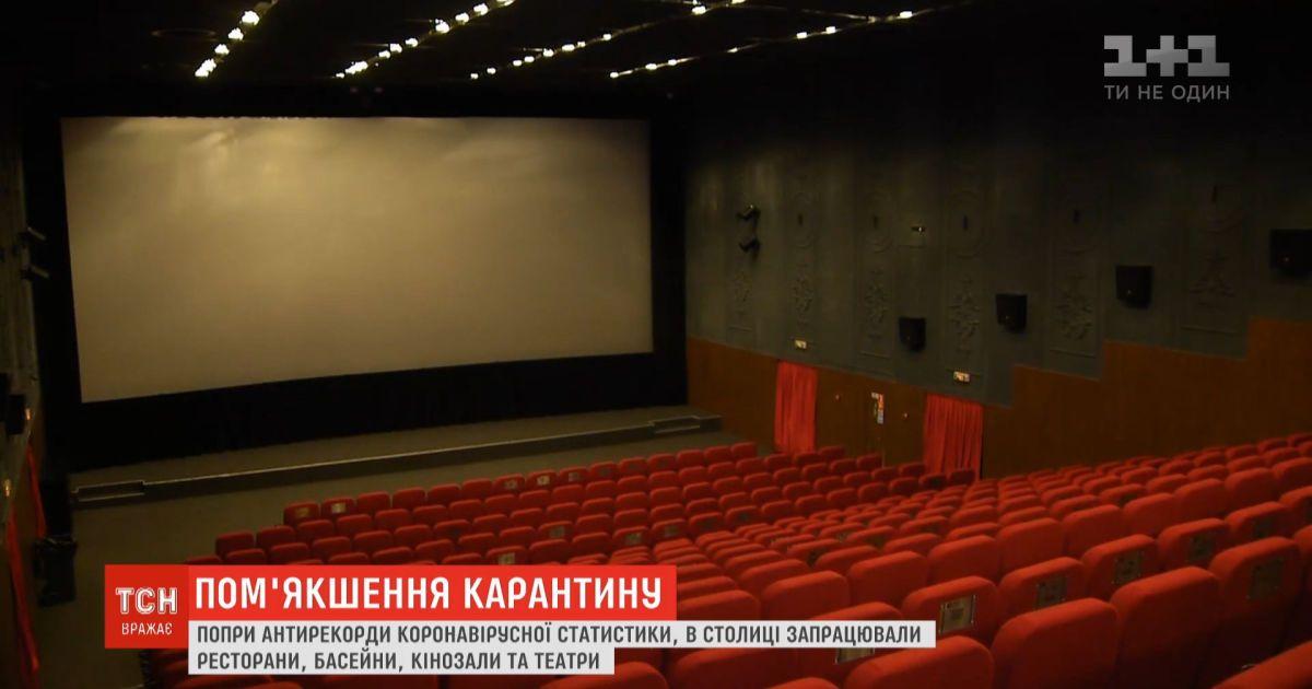 Несмотря на коронавирусные антирекорды, в Киеве заработали рестораны, театры и кинозалы