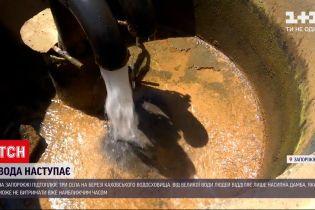 Новини України: селяни на березі Каховського водосховища побоюються, що дамба не витримає води