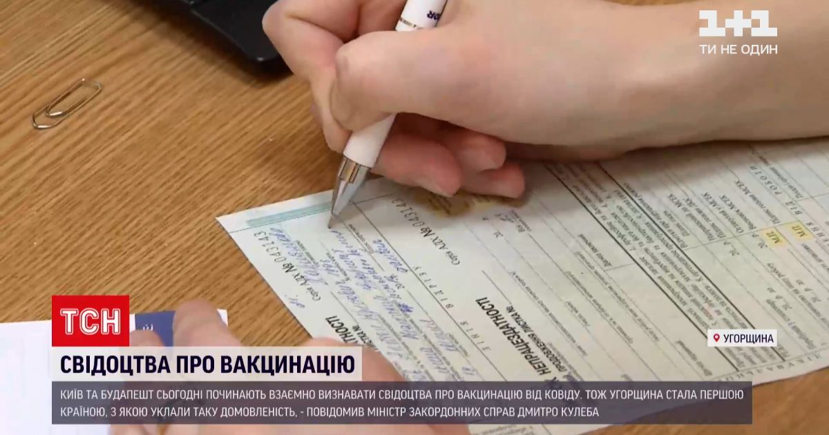 Новости мира: Киев и Будапешт начинают взаимно признавать свидетельства о вакцинации