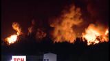 Как выглядит эпицентр взрыва на нефтебазе в Василькове