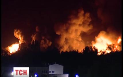 Яценюк поручил наказать виновных в пожаре под Васильковом