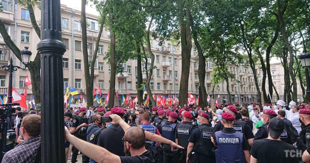 мітинг під будинком Зеленського / © Фото Івана Воробйова/ТСН