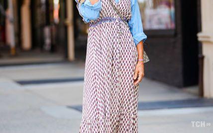 В макси-сарафане и с косой: новый образ Сары Джессики Паркер в роли Кэрри Брэдшоу в Нью-Йорке