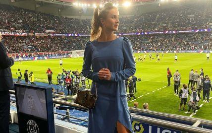 Разом із Монфісом: Світоліна в елегантному вбранні сходила на футбол у Парижі