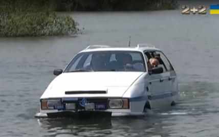 На Львовщине умелец построил автомобиль-амфибию