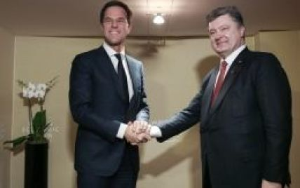 Порошенко із прем'єр-міністром Нідерландів обговорили ескалацію конфлікту на Донбасі