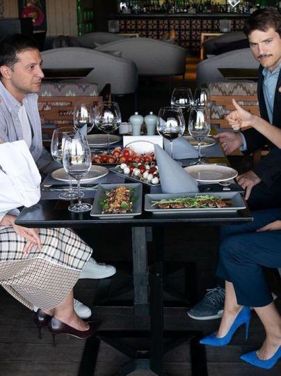 Владимир и Елена Зеленские встретились с Эштоном Катчером и Милой Кунис / © Instagram Олени Зеленської
