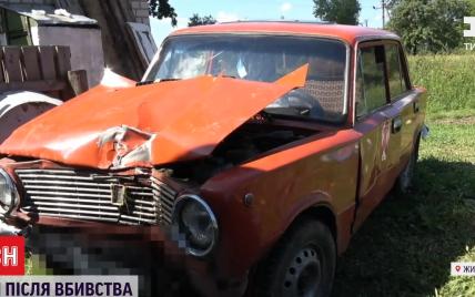 У Житомирській області чоловік вбив батька, викрав авто і навмисно влаштував ДТП з двома доньками