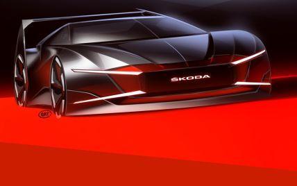 """Skoda показала эффектные изображения своего спорткара в """"вампирском"""" стиле"""