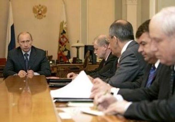Нарада Володимира Путіна з Радою безпеки РФ