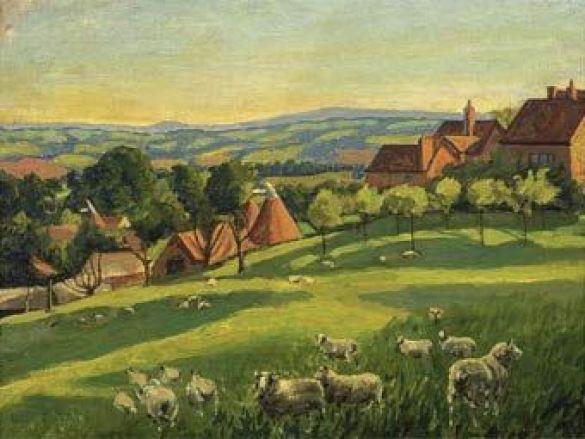 Чартуелл: Пейзаж з вівцями