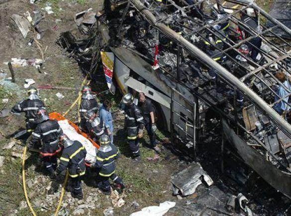 Аварія автобусу з польськими пілігримами у Франції