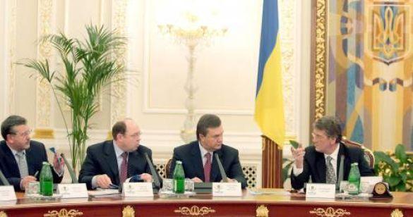 Віктор Ющенко, Віктор Янукович, Віталій Гайдук, Анатолій Гриценко