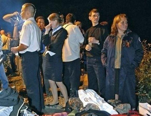 Пасажири експресу Москва-Петербург після аварії