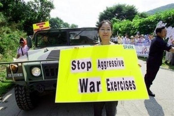 Протести в Південній Кореї проти навчань Ulchi Focus Lens